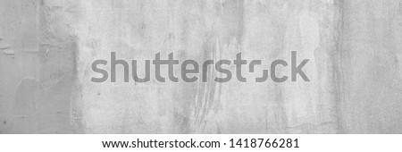 Panoramic background of gray plaster texture #1418766281