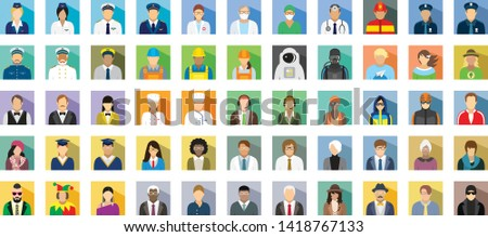 People icon set - different professions. #1418767133