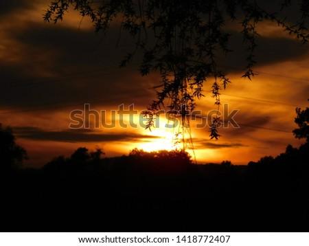 Golden Sunset over the River Wye #1418772407