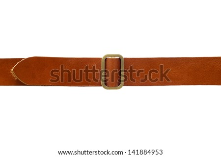 Brown leather belt Royalty-Free Stock Photo #141884953