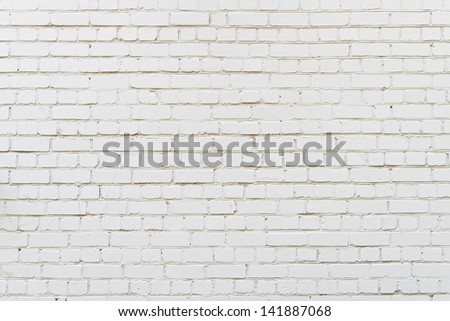 White brick wall background, texture #141887068