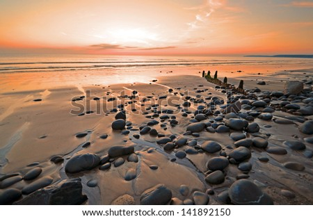 The peaceful beach Royalty-Free Stock Photo #141892150