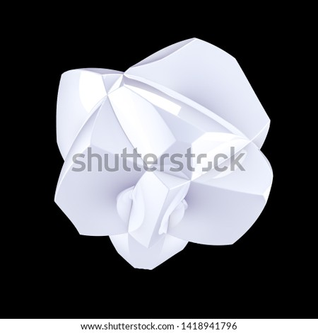 Abstract shape background. 3d illustration, 3d rendering. #1418941796