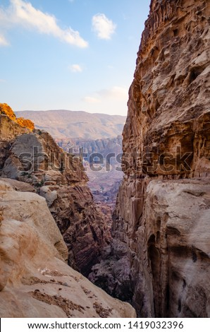 mountain landscape in petra jordan #1419032396