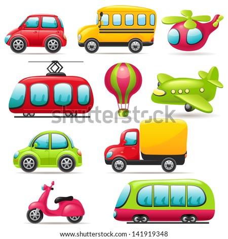 Cartoon transport set
