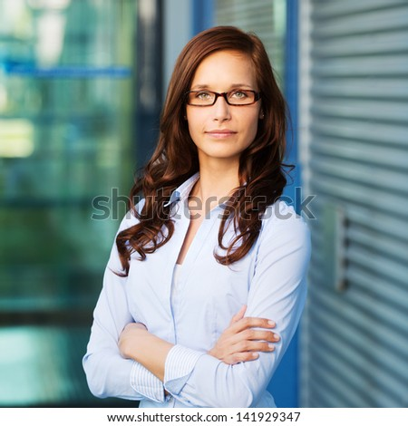 Portrait of a beautiful confident female executive, looking into the camera. #141929347