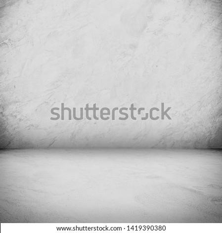 white concrete background concrete floor and concrete floor with studio light for backdrop design #1419390380