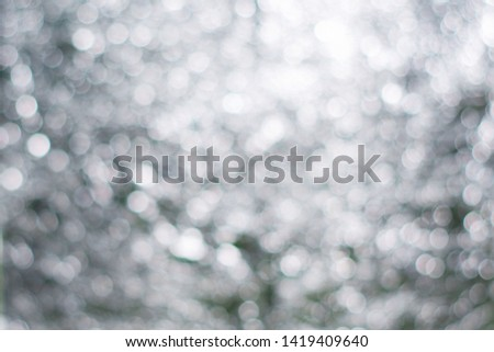 Blurred view of abstract silver background. Bokeh effect #1419409640