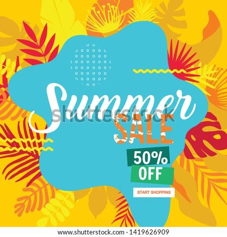 Sale website banner. Sale tag. Sale promotional material vector illustration. Design for social media banner, poster, email, newsletter, ad, leaflet, placard, brochure, flyer, web sticker #1419626909
