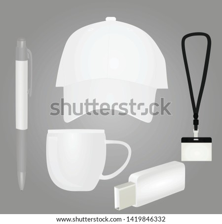 Promotional brand items. vector illustration #1419846332