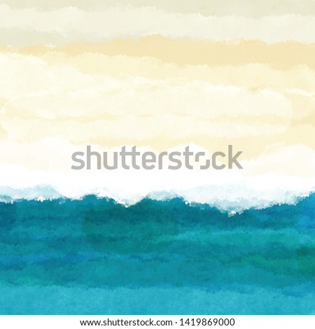 Abstract watercolour beach themed background #1419869000
