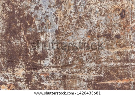 Rusty Iron Metal Texture Background #1420433681