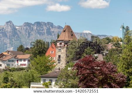Beautiful historic buildings and churches in Vaduz,Liechtenstein, Europe #1420572551