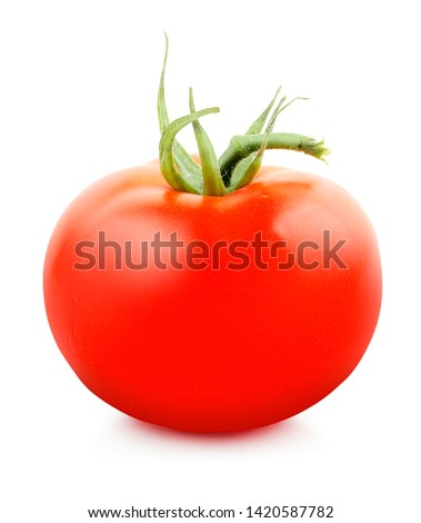 Fresh tomato isolated on white background. Design elements with clipping path (clipping path is only on objects, not on shadows) #1420587782