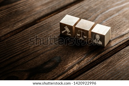 Labor Law Lawyer Legal Business Technology Concept Royalty-Free Stock Photo #1420922996