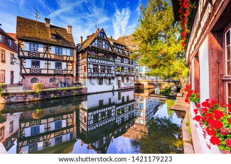 Strasbourg, Alsace, France. Traditional half timbered houses of Petite France. #1421179223