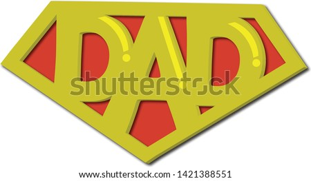 This is a vector related to fathers day..it shows how fathers plays an important role of superman in his childs life!