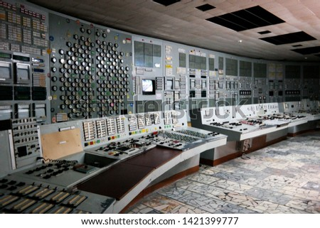 Reactor Control Room in Chernobyl Exclusion Zone #1421399777