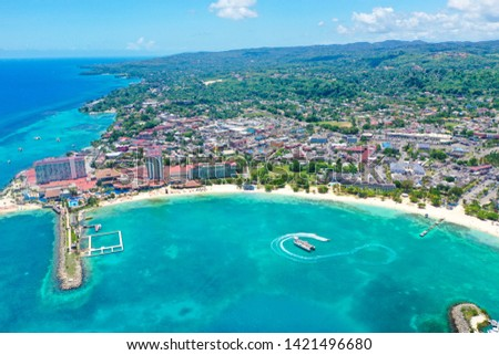Beautiful view of the beaches in Ochos Rios Jamaica in a summer day.  Photo Credit:  Marty Jean-Louis #1421496680