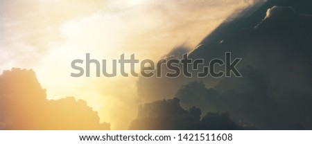 divine intervention heavenly sky background Royalty-Free Stock Photo #1421511608