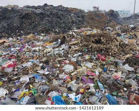 Garbage or waste Mountain at Garbage Godown, Tamilnadu India.  Picture taken on 15/05/2019 #1421612189