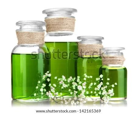 Medicine bottles isolated on white #142165369