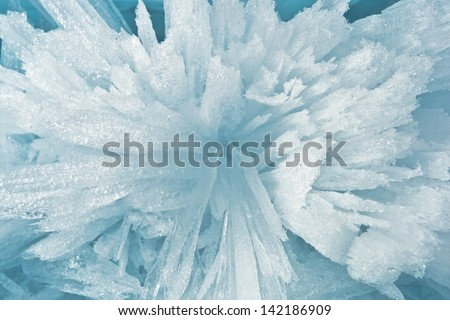 Ice sticks from water of Baikal for background #142186909