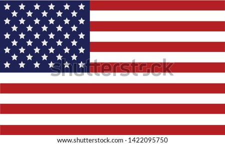American Flag 4th july illustration