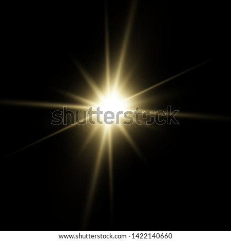 White glowing light explodes on a transparent background. with ray.  Transparent shining sun, bright flash.  Special lens flare light effect.  #1422140660