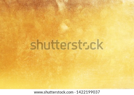 Gold abstract background or texture and gradients shadow.