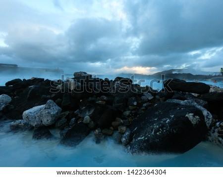 Natural Rocks at Blue Lagoon, Blue Lagoon, Iceland #1422364304