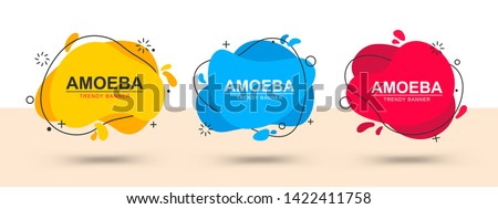 Modern set of abstract banners. Vector bright template banners. Template ready for use in web or print design.