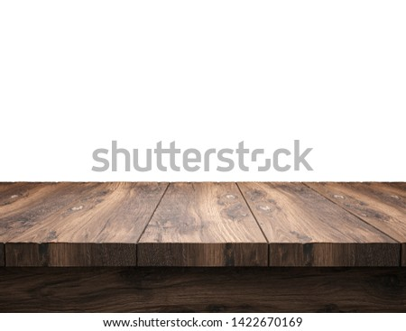 blank table top in front of background - 3D Illustration #1422670169