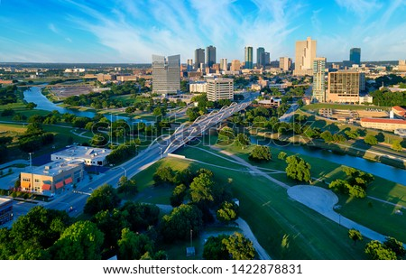 Aerial View Fort Worth Texas Royalty-Free Stock Photo #1422878831