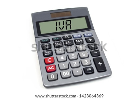 Calculator with acronym IVA - spanish and italian VAT #1423064369