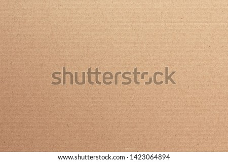 Brown cardboard sheet abstract background, texture of recycle paper box in old vintage pattern for design art work. Royalty-Free Stock Photo #1423064894