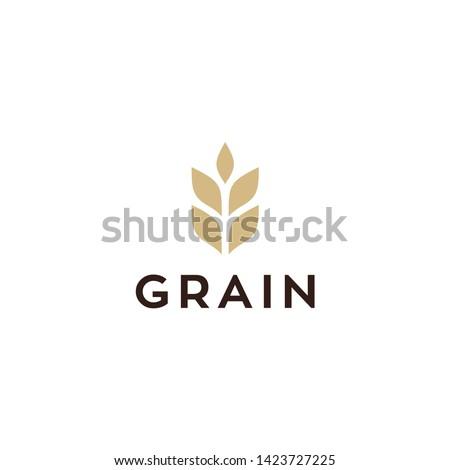 simple wheat / grain vector icon logo design #1423727225