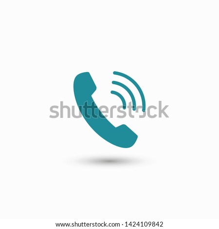 Cell phone vector icon. Telephone call icon. Ringing phone icon. Modern icon cell phone. Cell phone icons for web design #1424109842