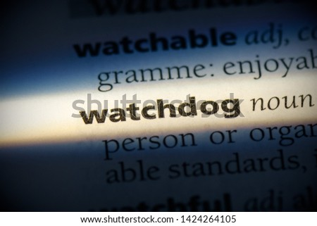watchdog word in a dictionary. watchdog concept, definition. #1424264105