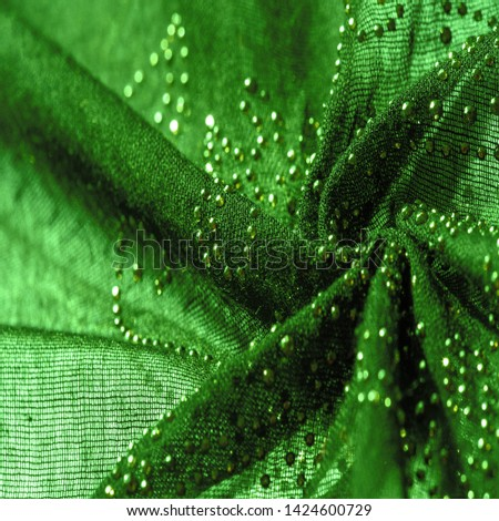 texture, background, pattern, postcard, green emerald silk with glued glass stones to break the light, this fabric is the best fit for your projects, solemnly and stylishly #1424600729