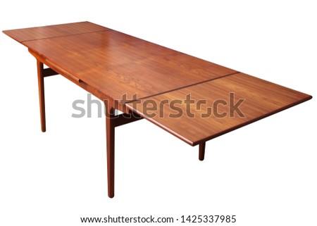 Vintage teak wood table, danish design #1425337985