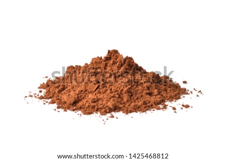 Pile of Cocoa powder isolated on white background. #1425468812