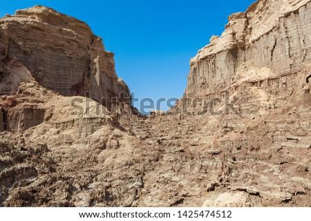 Dallol salt mountains in the Danakil Depression #1425474512