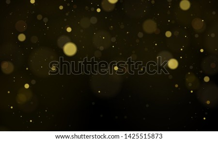 Texture background abstract black and white or silver Glitter and elegant for Christmas. Dust white. Sparkling magical dust particles. Magic concept. Abstract background with bokeh effect Vector #1425515873