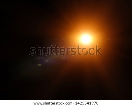 Lights and stars in the night. Lens refraction effect. Stars in the sky. Observe celestial bodies, new solar systems. Planets. Science fiction background #1425541970