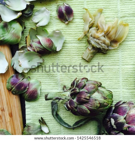 Organic Artichoke Flower and Heart from Harvest