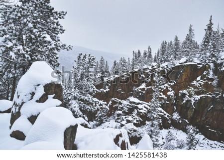 Estes Park Colorado winter USA #1425581438