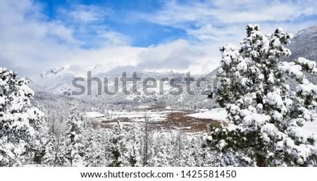 Estes Park Colorado winter USA #1425581450