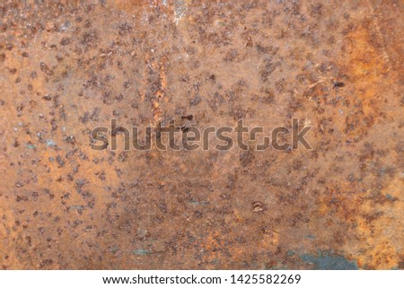 Rusty metal sheet, old grunge metal texture use for background, industrial texture for abstract Background. Iron surface rust.  #1425582269