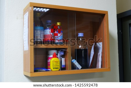 16 june 2019 in chiang mai Thailand,  small medicine cabinet in the office #1425592478
